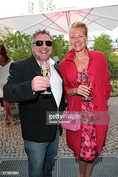 Armin Rohde and his partner Karen Boehne during the New Faces Award Film 2015 at ewerk on June 18 2015 in Berlin Germany