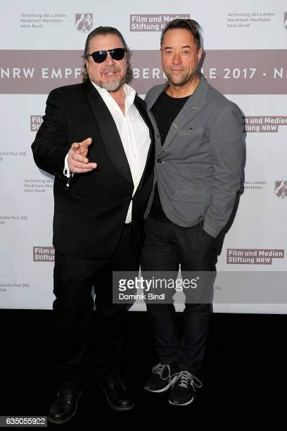 Armin Rohde and Jan Josef Liefers attend the NRW Reception at the Landesvertretung during the 67th Berlinale International Film Festival on February...