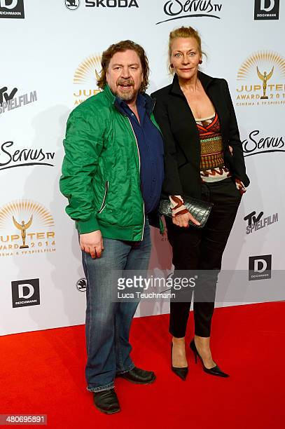 Armin Rohde and Karen Boehne attend 'Jupiter Award 2014' at Cafe Moskau on March 26 2014 in Berlin Germany