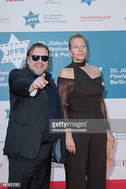 Armin Rohde and Karen Boehne attend the opening gala of the 20th Jewish Filmfestival Berlin Potsdam at Hans Otto Theater on March 30 2014 in Potsdam...