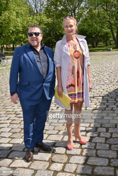 Armin Rohde and Karen Boehne during the 45th anniversary celebration of Ziegler Film at Tipi am Kanzleramt on April 27 2018 in Berlin Germany