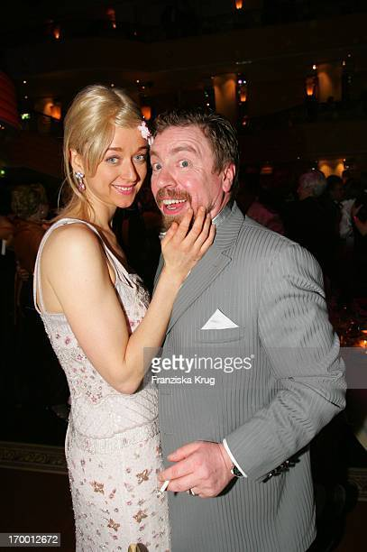 Armin Rohde and wife Angela Baronin Von Schilling at The Arrival For German Film Ball in the Hotel Bayerischer Hof in Munich.