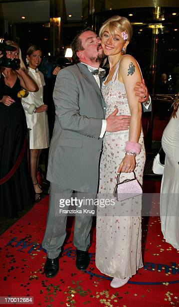 Armin Rohde Kisses wife Angela Baronin Von Schilling at The Arrival For German Film Ball in the Hotel Bayerischer Hof in Munich.