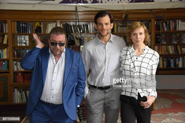 Armin Rohde, Torben Liebrecht and Franziska Weisz during the RTL Event Movie 'Das Joshua-Profil' Photocall In Berlin on August 22, 2017 in Berlin,...