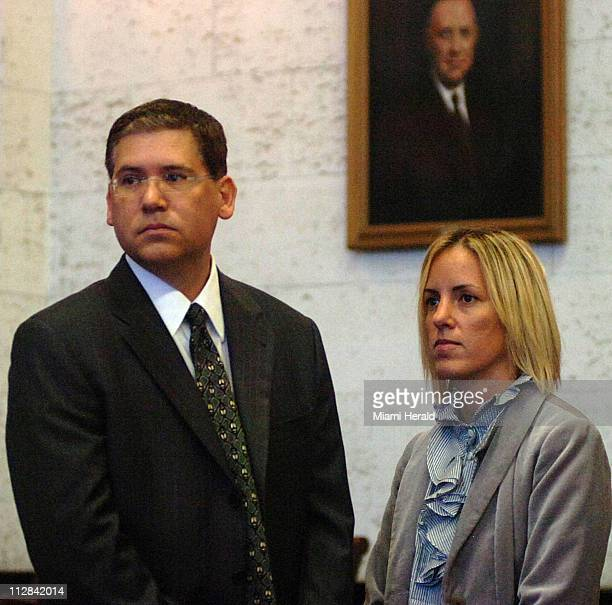 Armin Seifart left and wife Lisa Seifart arrive at the Dade County Courthouse in Miami Florida Wednesday June 9 just before the jury comes into the...