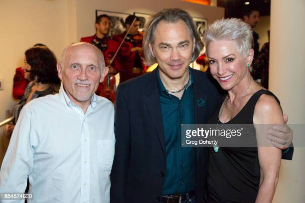 Armin Shimerman Mathew Rimmer and Nana Visitor attend the premiere of Magnolia Pictures' Lucky after party at Linwood Dunn Theater on September 26...