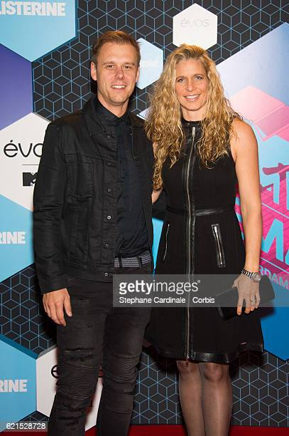 Armin van Buuren and Erika Van Thiel attend the MTV Europe Music Awards 2016 on November 6, 2016 in Rotterdam, Netherlands.