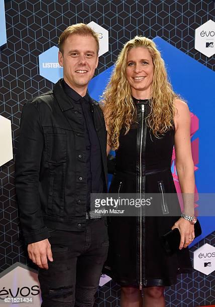 Armin van Buuren and partner Erika van Thiel attend the MTV Europe Music Awards 2016 on November 6, 2016 in Rotterdam, Netherlands.