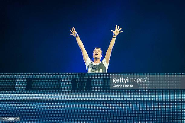 Armin Van Buuren performs at a concert during the Abu Dhabi Formula One Grand Prix on November 21 2014 in Abu Dhabi United Arab Emirates