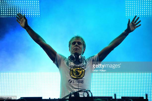 Armin van Buuren performs during 2011 Electric Zoo at Randall's Island Park on September 4 2011 in New York City