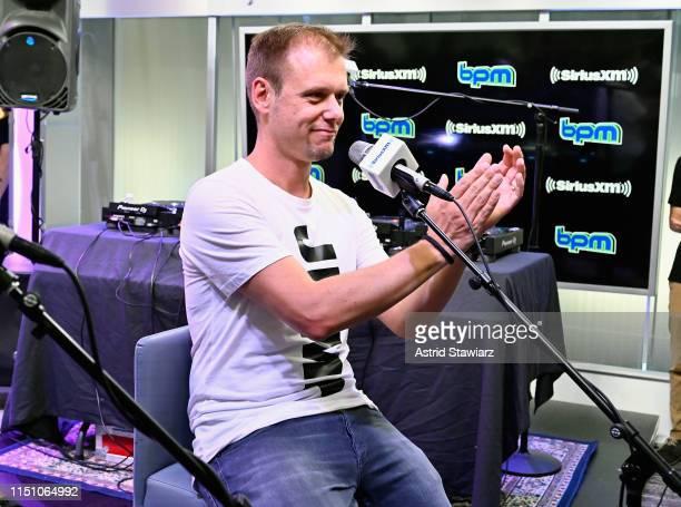 Armin van Buuren performs on SiriusXM's BPM channel at the SiriusXM Studios In New York City at SiriusXM Studios on May 22, 2019 in New York City.