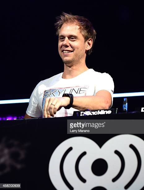 Armin van Buuren performs onstage during Y100's Jingle Ball 2013 Presented by Jam Audio Collection at BBT Center on December 20 2013 in Miami Florida
