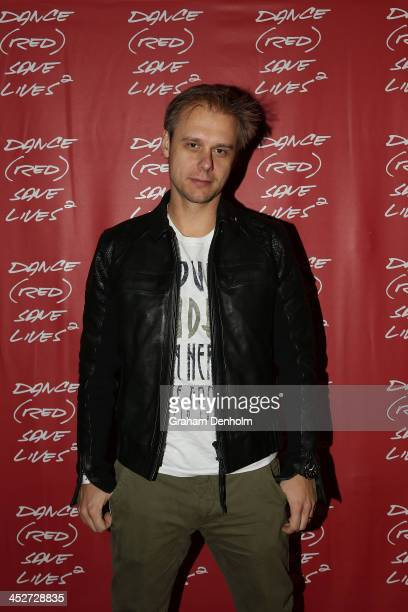 Armin van Buuren poses during DANCE SAVE LIVES at Stereosonic Sydney on December 1 2013 in Sydney Australia Photo by Graham Denholm/Getty Images for...