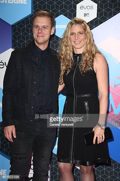 Armin van Buuren with partner Erika van Thiel attend the MTV Europe Music Awards 2016 on November 6, 2016 in Rotterdam, Netherlands.