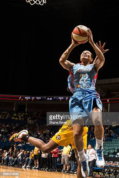 Armintie Price of the Atlanta Dream shoots against the Tulsa Shock during the WNBA game on May 9 2013 at the BOK Center in Tulsa Oklahoma NOTE TO...
