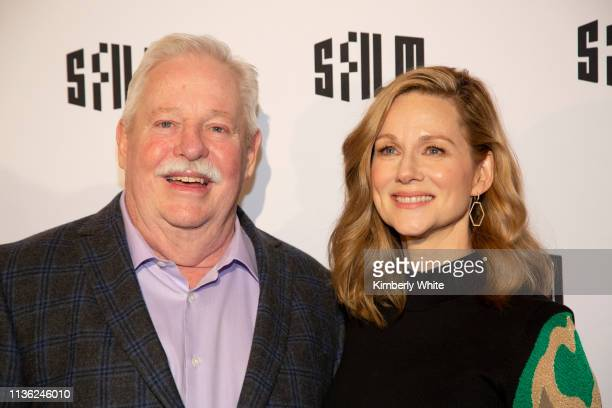 """Armistead Maupin and Laura Linney attend the premiere of """"Armistead Maupin's Tales Of The City"""" at the Castro Theatre on April 10, 2019 in San..."""