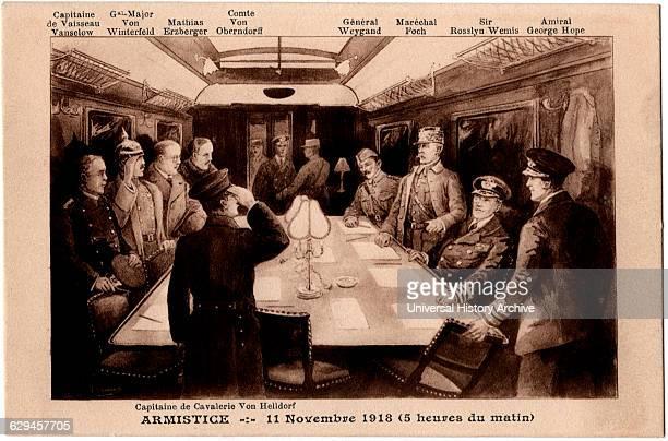 Armistice with Germany Ending World War I Compiegne France November 11 Postcard