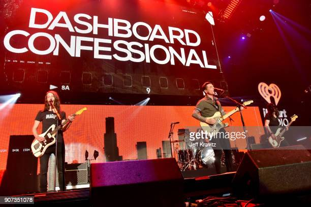 Armon Jay Benjamin Homola Chris Carrabba and Scott Schoenbeck of Dashboard Confessional perform onstage during iHeartRadio ALTer Ego 2018 at The...