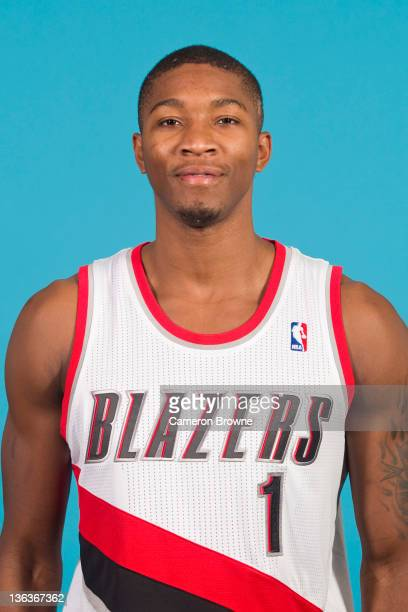 Armon Johnson of the Portland Trail Blazers poses for a portrait during Media Day on December 16 2011 at the Rose Garden Arena in Portland Oregon...