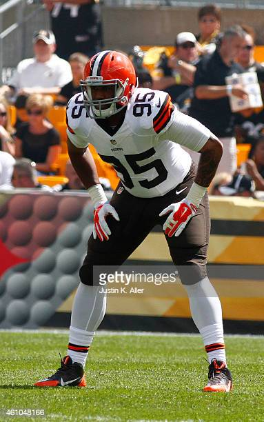 Armonty Bryant of the Cleveland Browns plays against the Pittsburgh Steelers on September 7 2014 at Heinz Field in Pittsburgh Pennsylvania