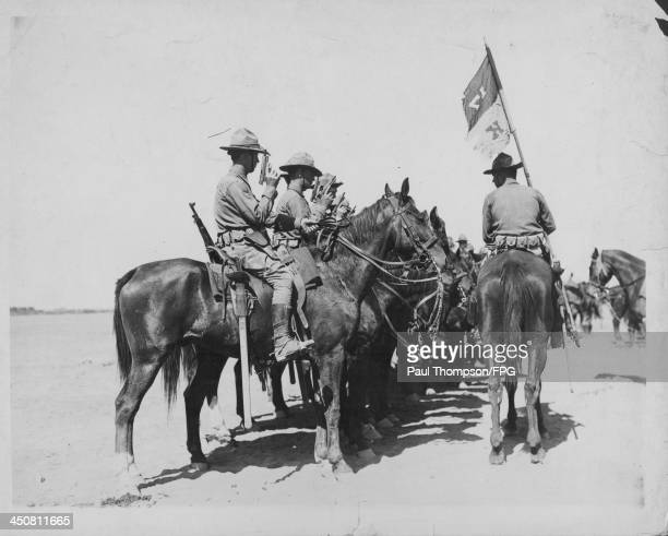 US armored cavalry division formerly Mexican Border Patrol during World War One United States of America circa 19141918