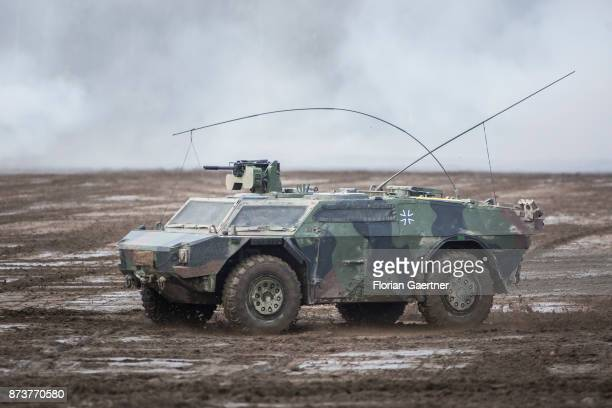 Armored scout car 'Fennek'. Shot during an exercise of the land forces on October 13, 2017 in Munster, Germany.