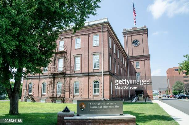 Armory museum of Springfield Massachusetts during summer day