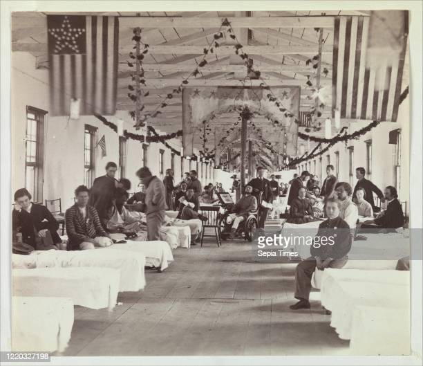 Armory Square Hospital. Washington. 1863Ð65. Albumen silver print from glass negative. Image: 17.3 _ 20 cm . Photographs. Unknown . After the first...