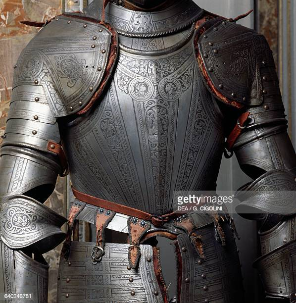 Armour detail in the Weapons gallery Bagatti Valsecchi museum Milan Lombardy Italy