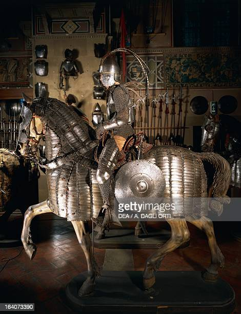 Armour in steel chain mail and leather for an OttomanMamluk knight and horse Late 16th and early 17th century Florence Museo Stibbert