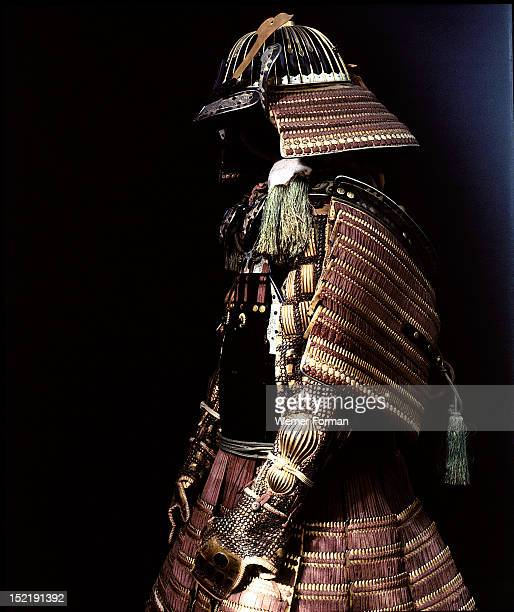 Armour made by Yukiyoshi for Date Yoshimura the daimyo of Sendai The helmet was made earlier in the 16th c Japan Japanese armour mid 18th C helmet...