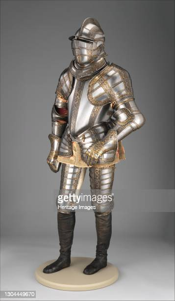 Armour of Sir James Scudamore , British, Greenwich, circa 1595-96; restored and completed, 1915. Artist Jacob Halder, Royal Workshops at Greenwich,...