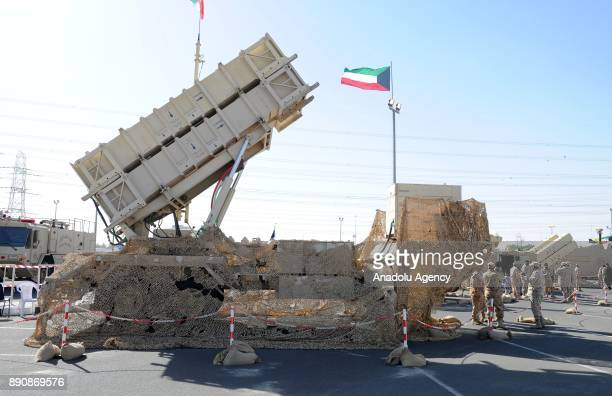 Armoured vehicles military gear and systems in the field of defense security and aviation are displayed at Gulf Defense and Aerospace Exhibition with...