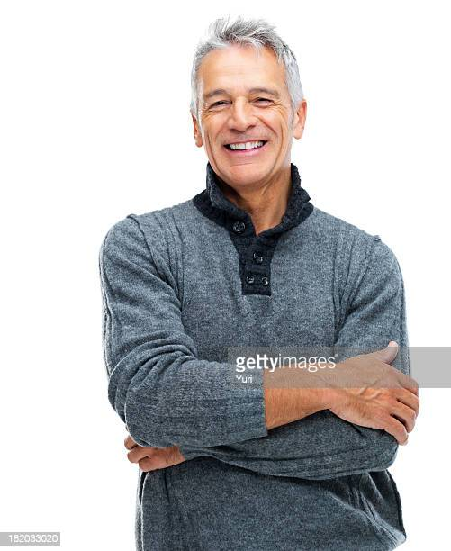 arms crossed and radiating confidence - mature men stock pictures, royalty-free photos & images