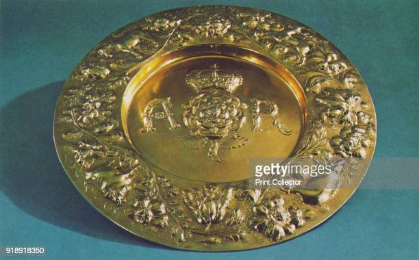 'Arms Dish 1660' 1953 The piece is part of the Royal Collection at the Tower of London From The Crown Jewels by Martin Holmes FSA [Her Majesty's...