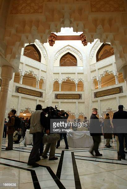 UN arms inspectors search inside the alSojoud presidential palace one of Iraqi President Saddam Hussein's palaces during a surprise visit December 3...