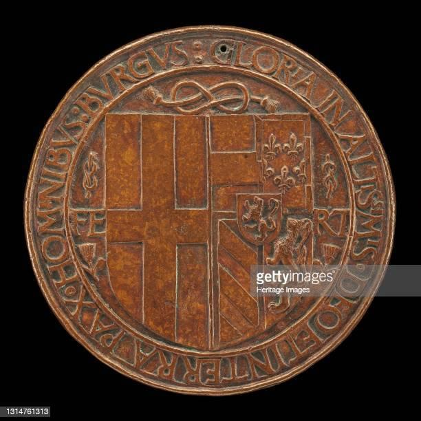 Arms of Filiberto Impaling Those of Margaret [reverse], 1502. Artist Jean Marende.