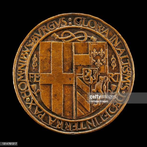 Arms of Filiberto Impalling Those of Margaret [reverse], 1502. Artist Jean Marende.