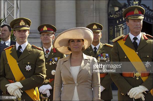 Arms Presentation During The National Day In Luxembourg On June 23Rd 2005 In Luxembourg Luxembourg Here Grand Duke Guillaume Heir To The Throne Grand...