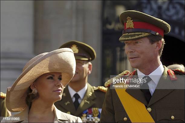Arms Presentation During The National Day In Luxembourg On June 23Rd 2005 In Luxembourg Luxembourg Here Grand Duchess MariaTeresa Grand Duke Henri
