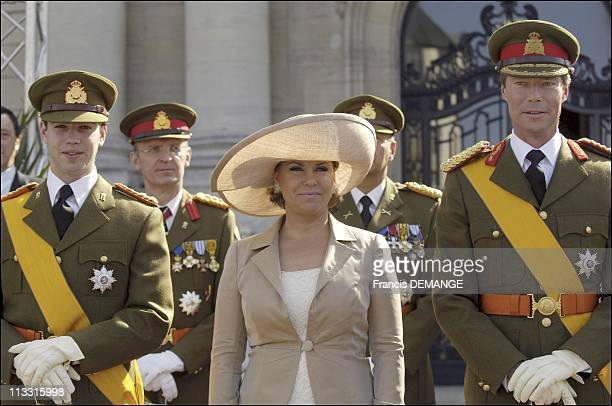 Arms Presentation During The National Day In Luxembourg On June 23Rd 2005 In Luxembourg Luxembourg Here Grand Duke Guillaume Heir The Throne Grand...