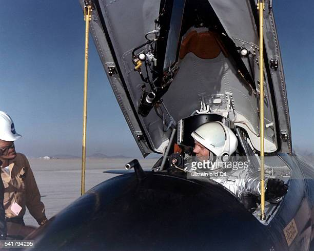 Armstrong Neil Alden *Astronaut aerospace engineer naval aviator test pilot and university professor USA Neil Armstrong in the cockpit of a North...