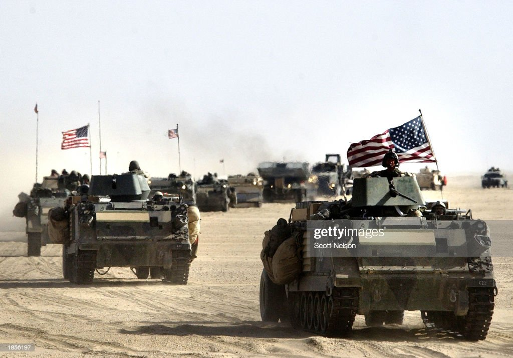 U.S. And British Forces Prepare For Possible War Against Iraq  : Nieuwsfoto's