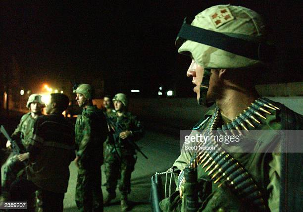 Army 4th Infantry Division, 1st Battalion, 66th Regiment Mortar Platoon Private 2nd Class Joshua Hubble , from Southport, North Carolina, stands...