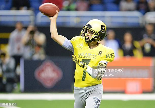S Army AllAmerican Bowl West Team quarterback Brady White throws a pass during the US Army AllAmerican Bowl in the Alamodome in San Antonio Texas