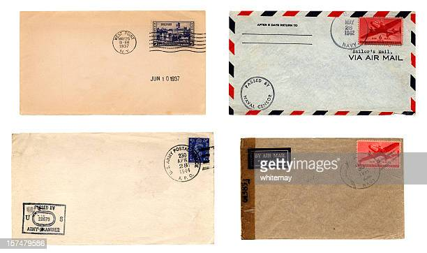 US Army and Navy envelopes