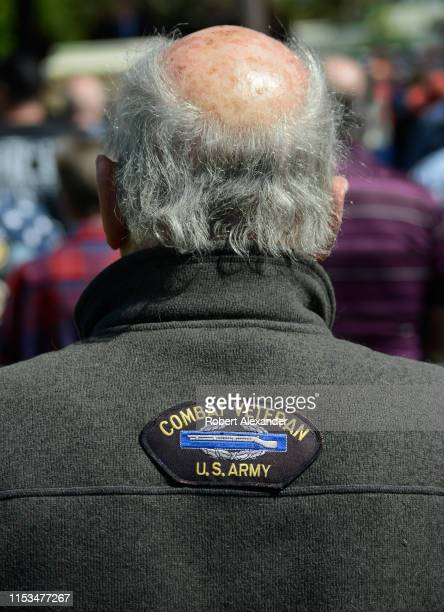 Army and Vietnam War veteran attends a Memorial Day event at the Santa Fe National Cemetery in Santa Fe, New Mexico. The cemetery is administered by...