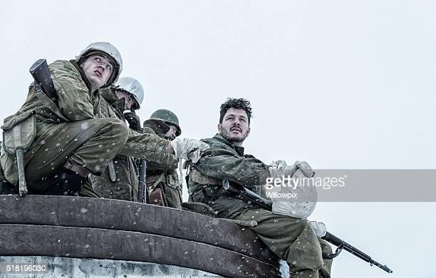 NACH DEM ZWEITEN WELTKRIEG UNS Armee Soldat Zapfen Buddy daß der Schulter