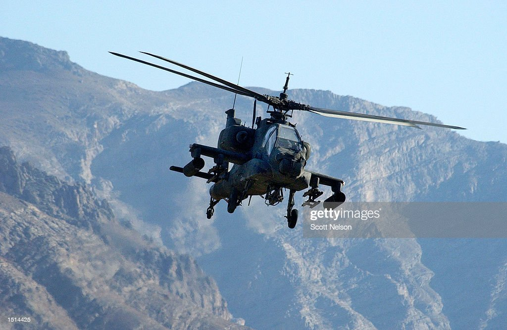 Apache Hellfire Helicopters Take Part In Exercise : News Photo