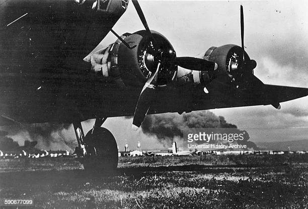 US Army B17E aircraft at Hickam Air Field after landing safely When the Imperial Japanese Navy attacked Oahu's military installations on 7 December...